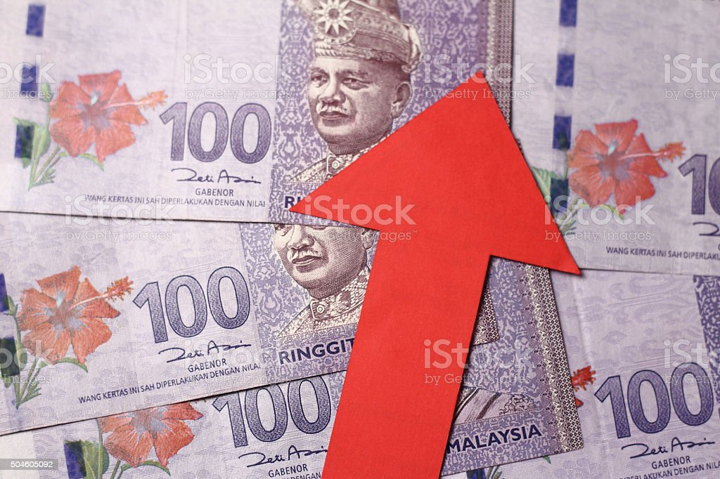 Appreciation of the Malaysian Ringgit stock photo