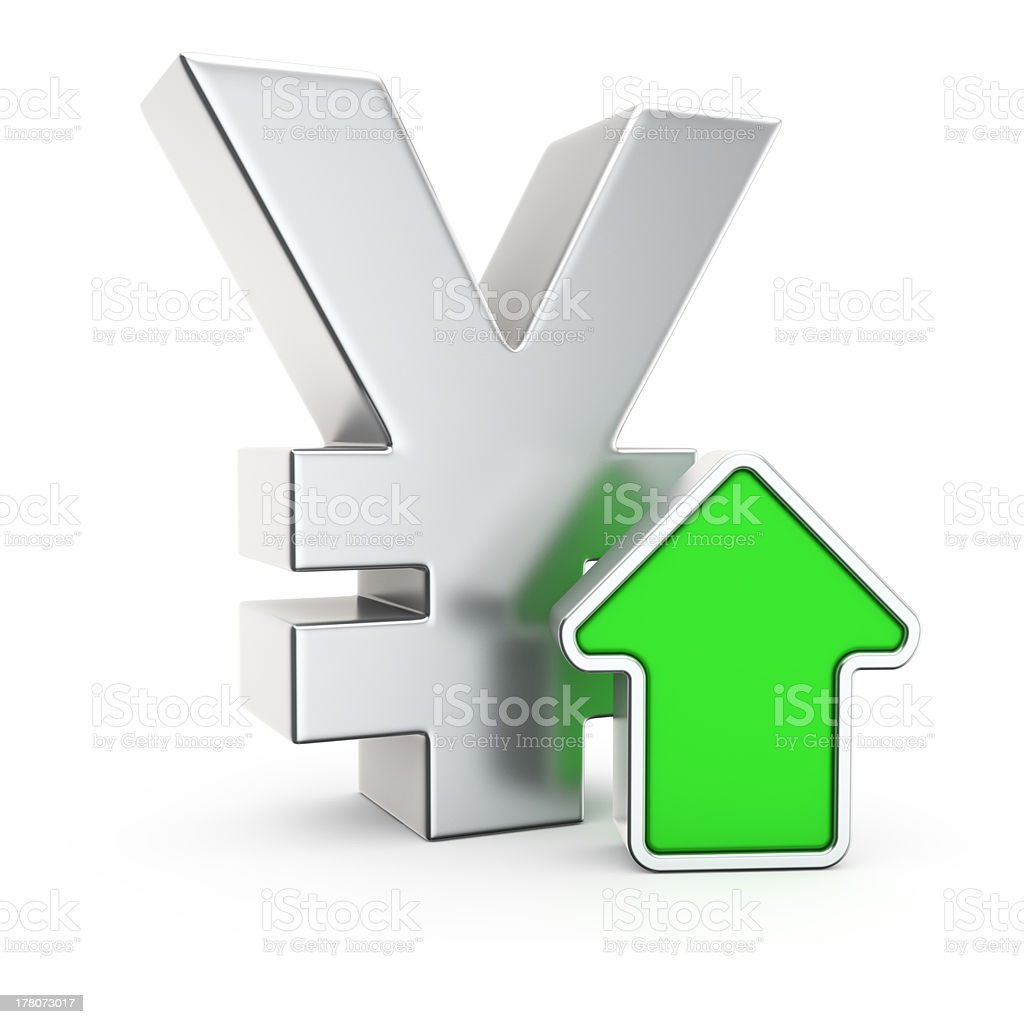 Appreciation of the Yen stock photo