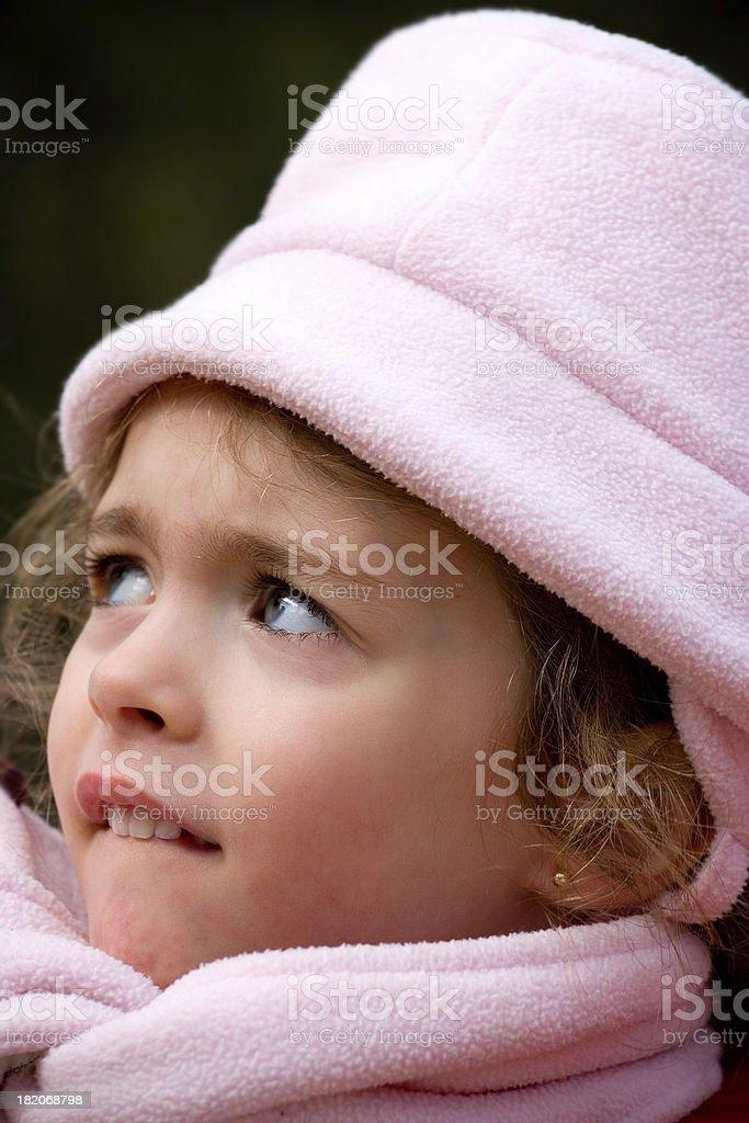 Apprehensive girl royalty-free stock photo
