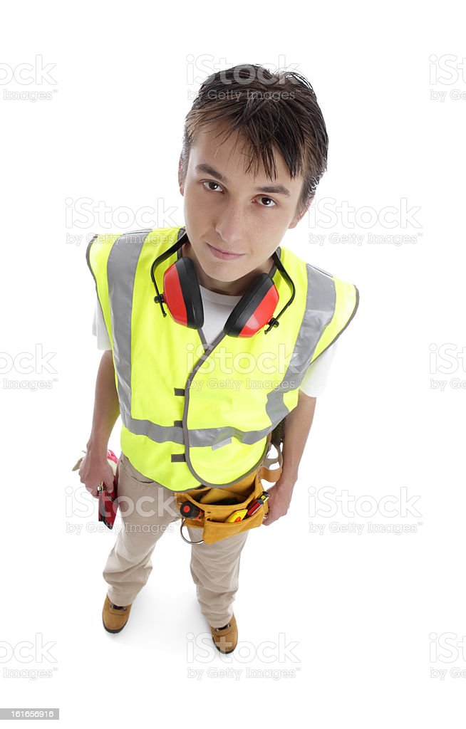 Apprentice builder royalty-free stock photo