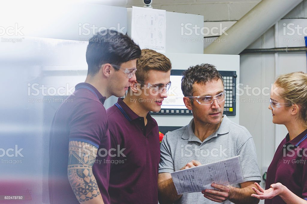 Apprentices in Engineering stock photo