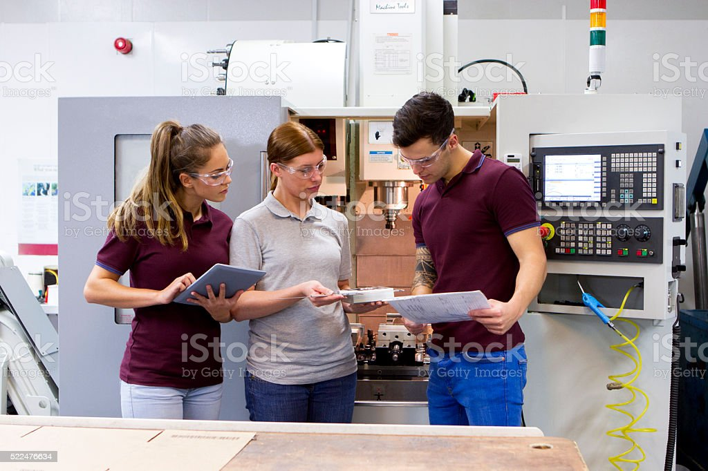 Apprentices in the Workplace stock photo