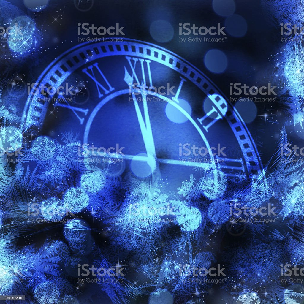 Approach of New Year background. stock photo