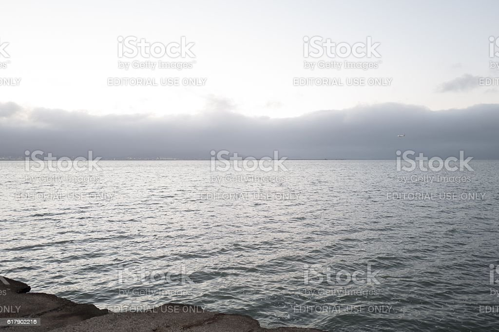 SFO Approach stock photo