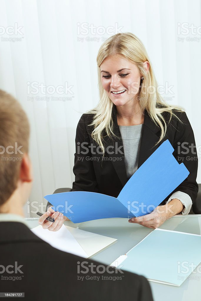 Approachable  Friendly Business Human Resource Manager Interviewing New Hire Recruitment royalty-free stock photo