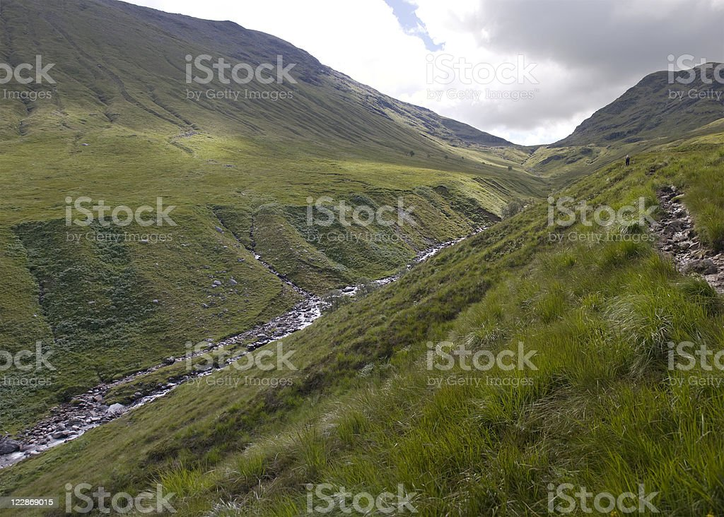 Approaching Beinn Achaladair royalty-free stock photo