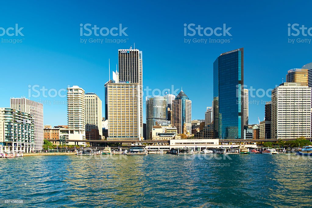 Approaching Circular Quay In Sydney stock photo