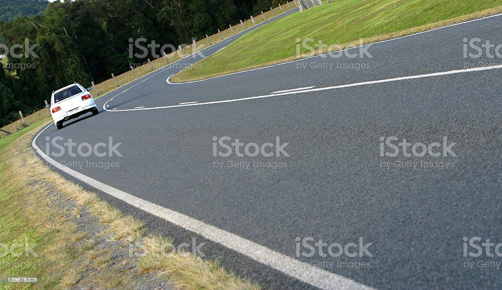 Approaching Curve royalty-free stock photo
