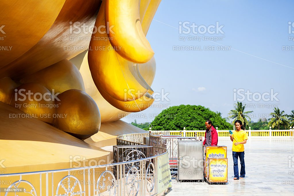 Approaching giant buddha's fingers stock photo
