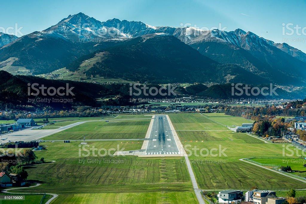 Approaching Innsbruck stock photo