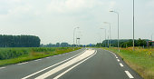 approaching intersection double solid line on dutch rural road