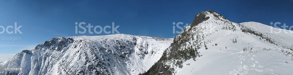 Approaching Lion Head on Mt Washington stock photo
