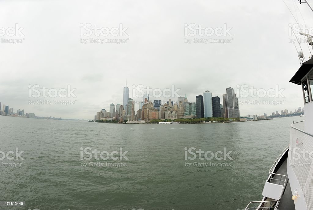 Approaching Mahnattan via boat royalty-free stock photo
