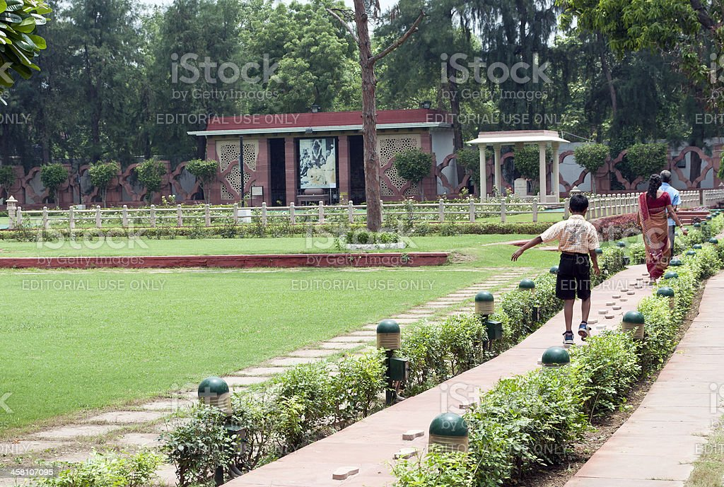 Approaching Martyr's Column Gandhi Smriti royalty-free stock photo