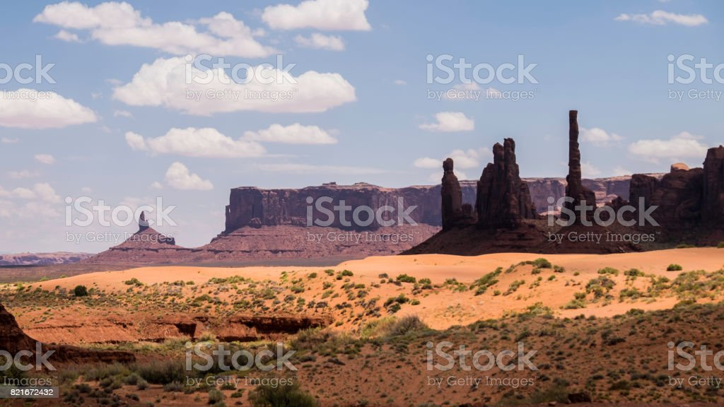 Approaching Monument Valley stock photo