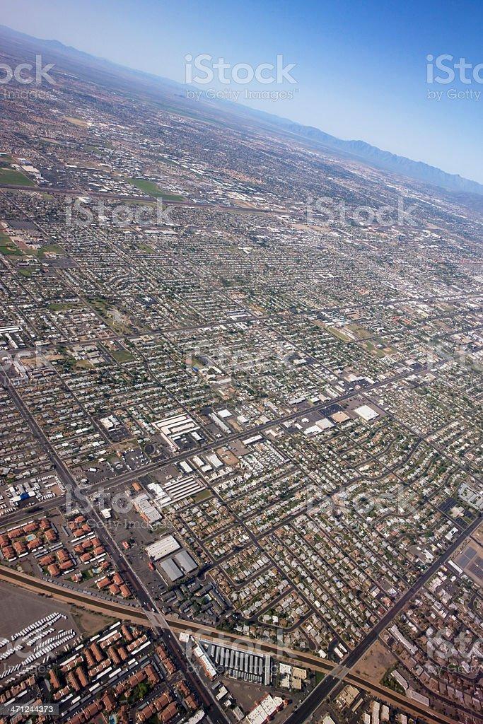 Approaching Phoenix, Arizona royalty-free stock photo