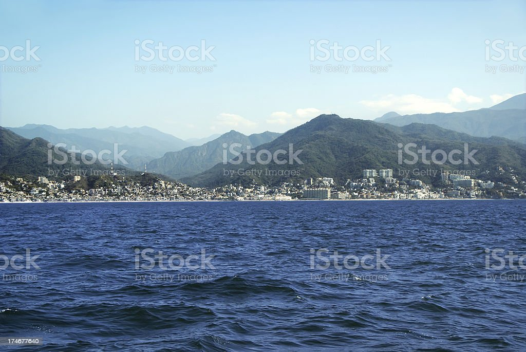 Approaching Puerto Vallarta, Mexico stock photo