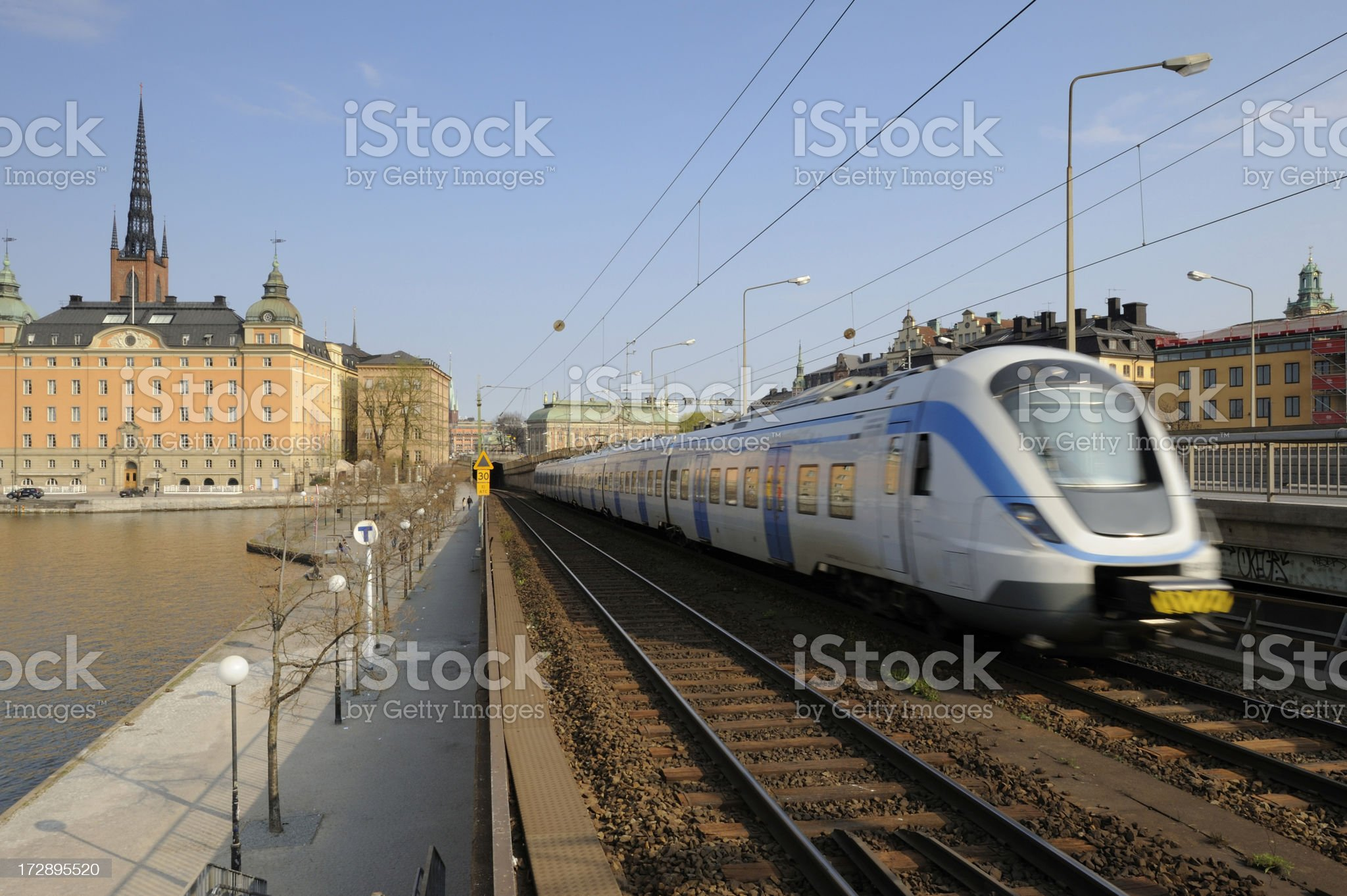 Approaching Stockholm royalty-free stock photo