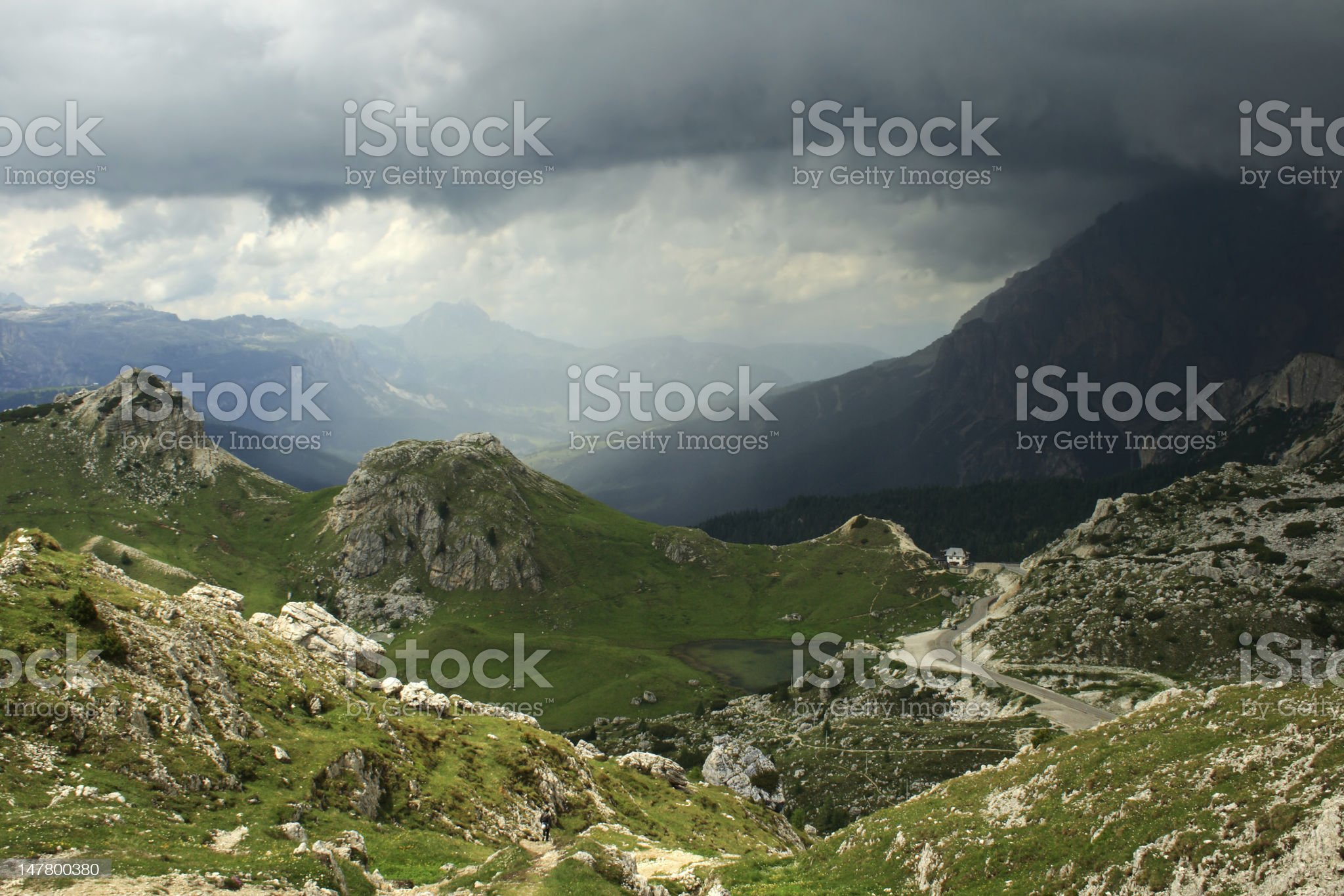 Approaching storm in the mountains royalty-free stock photo