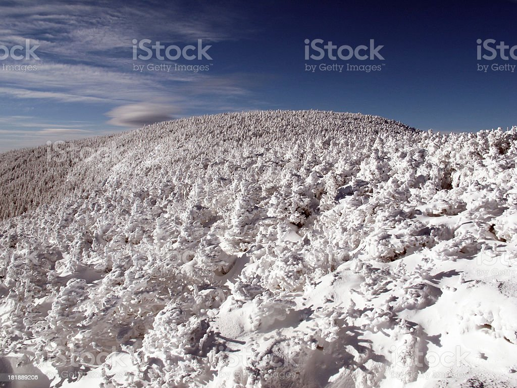 Approaching the North Twin Summit royalty-free stock photo