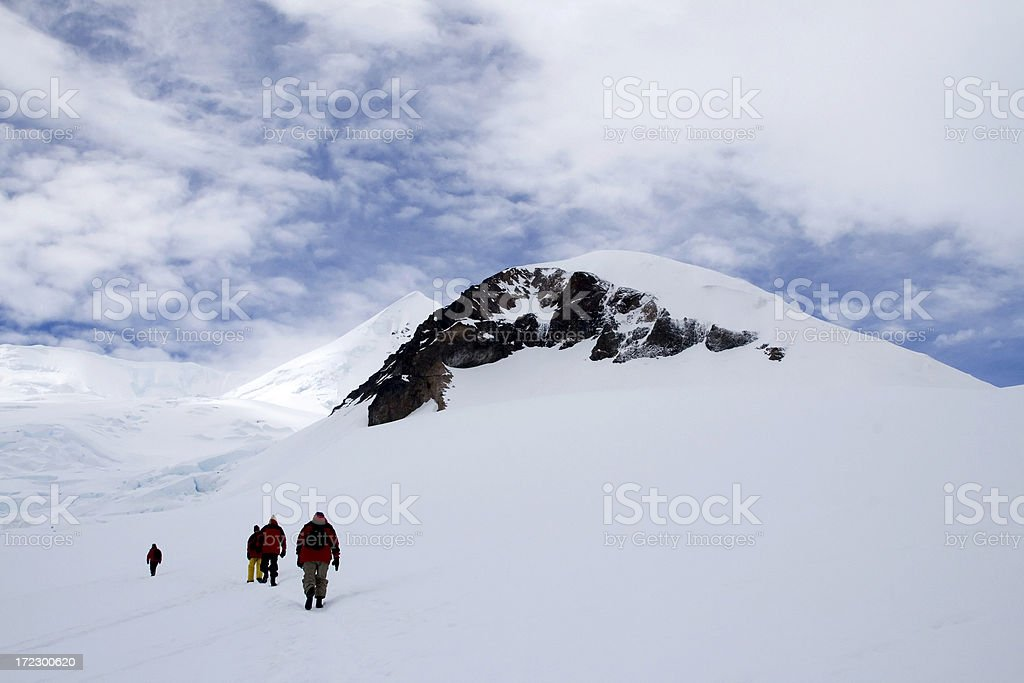 Approaching the Summit royalty-free stock photo