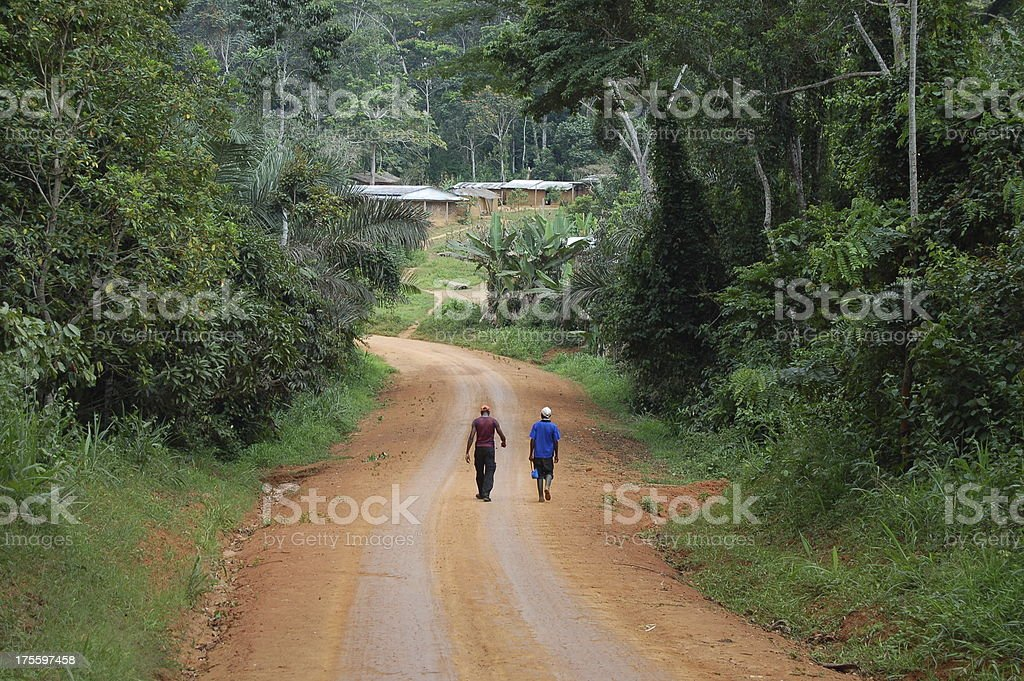 Approaching the Village royalty-free stock photo