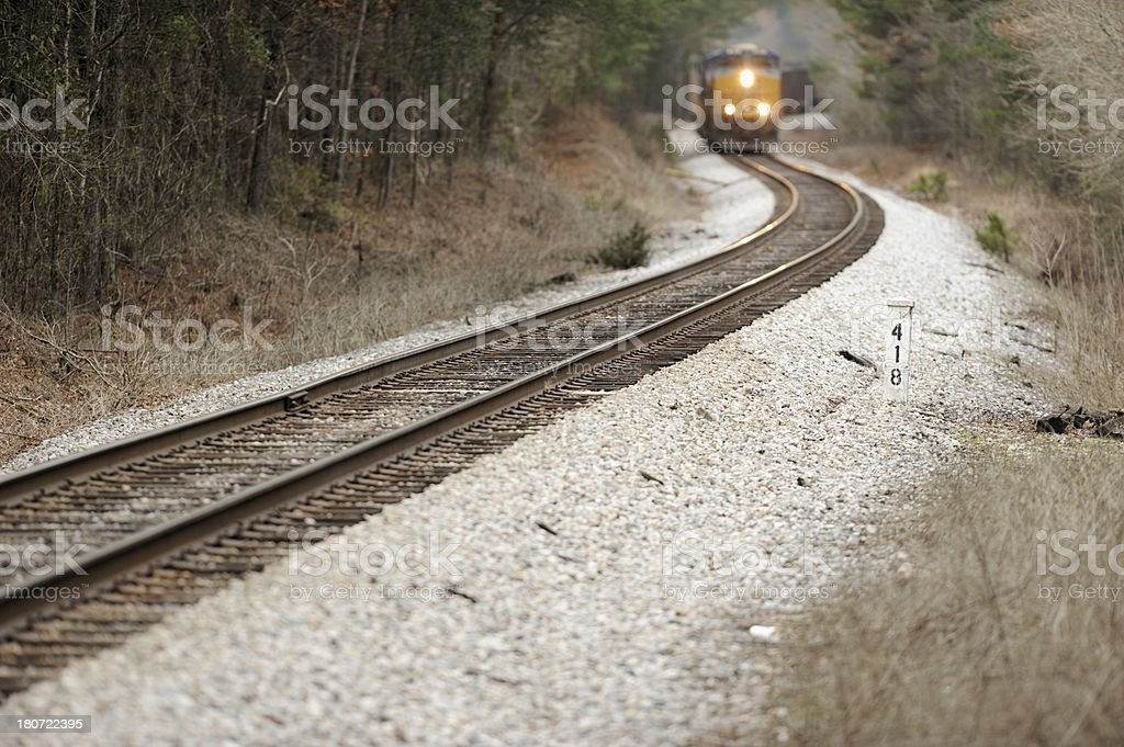 Approaching train royalty-free stock photo