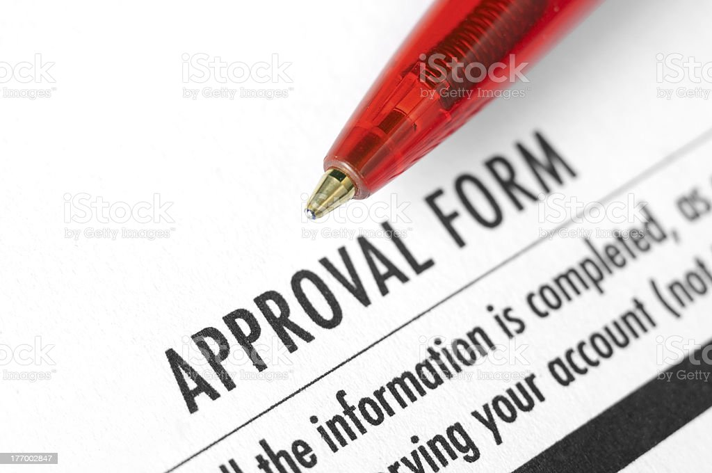 Approval form stock photo