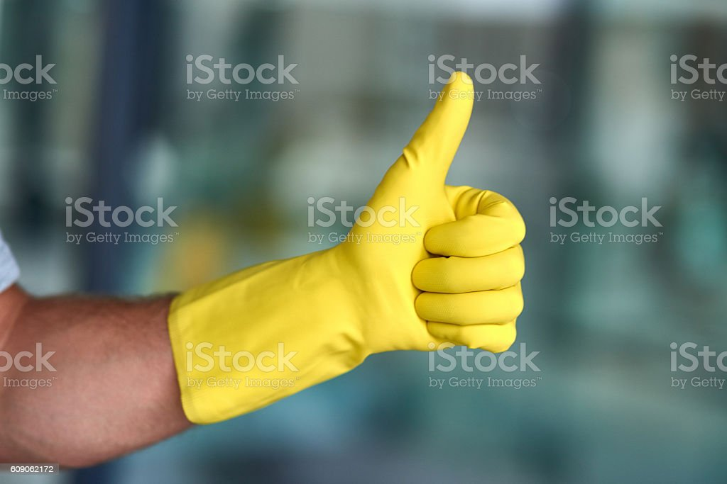 I approve of good hygiene stock photo
