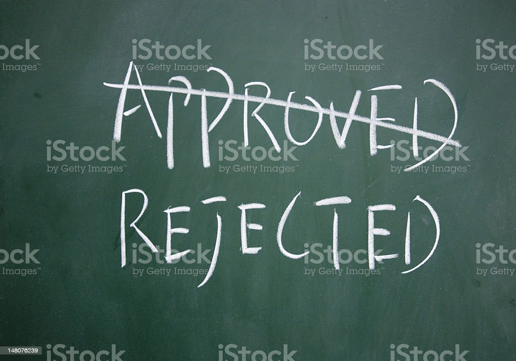 approved and rejected symbol royalty-free stock photo