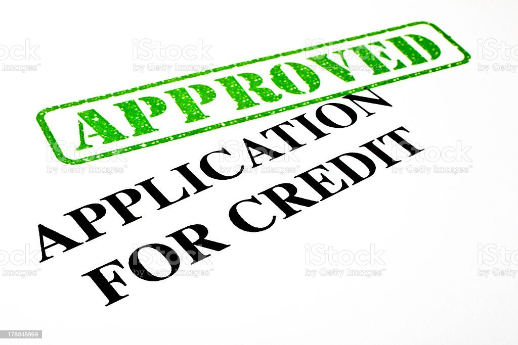 Approved Application For Credit royalty-free stock photo