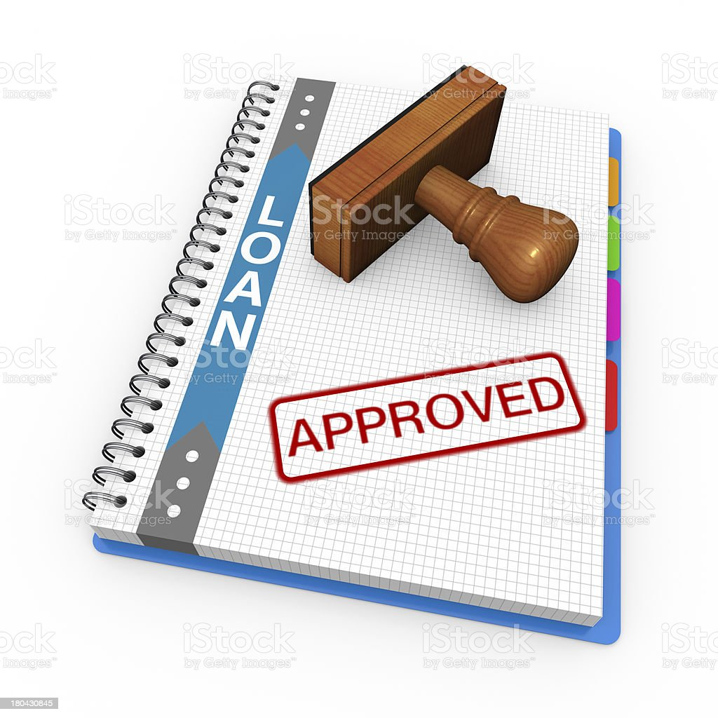 Approved as concept royalty-free stock photo
