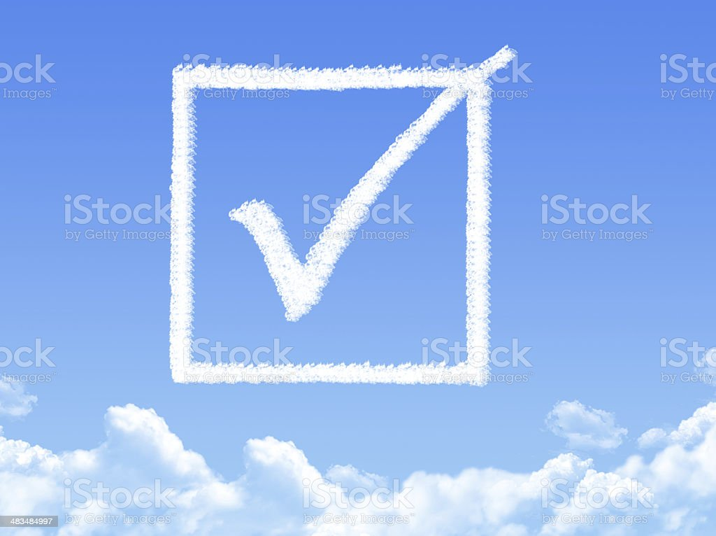 Approved cloud shape royalty-free stock photo