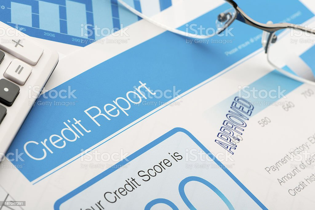 Approved Credit report form stock photo