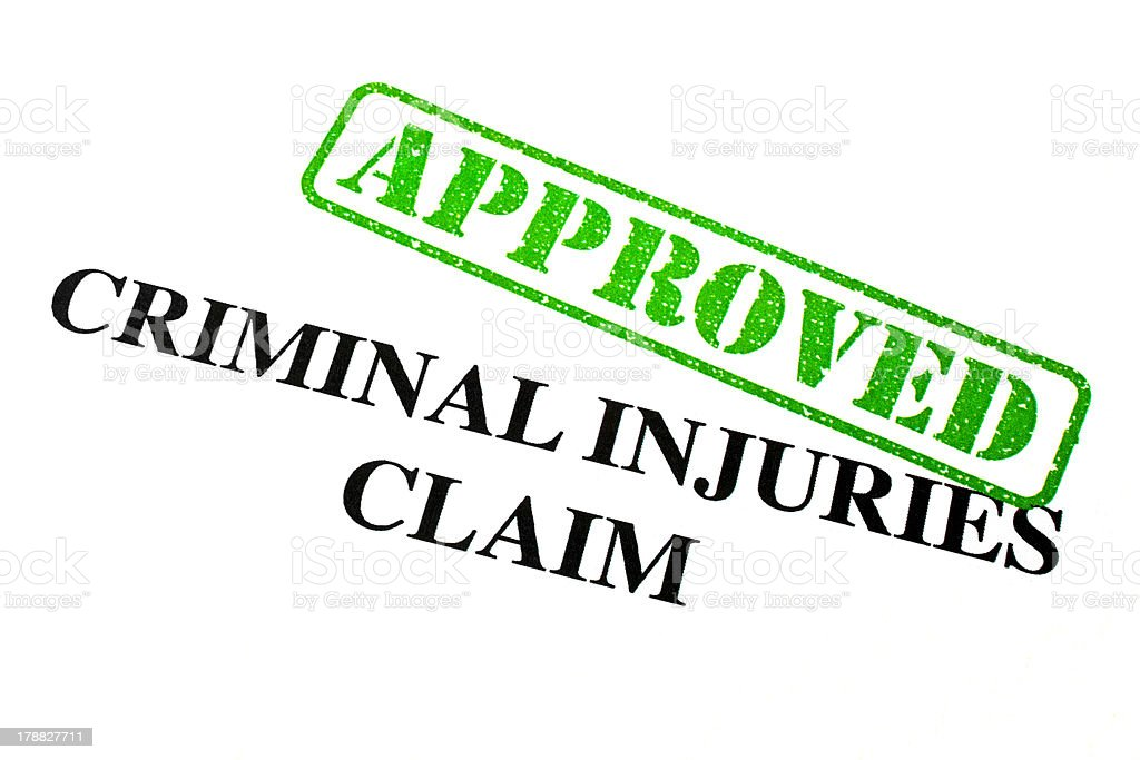 Approved Criminal Injuries Claim royalty-free stock photo