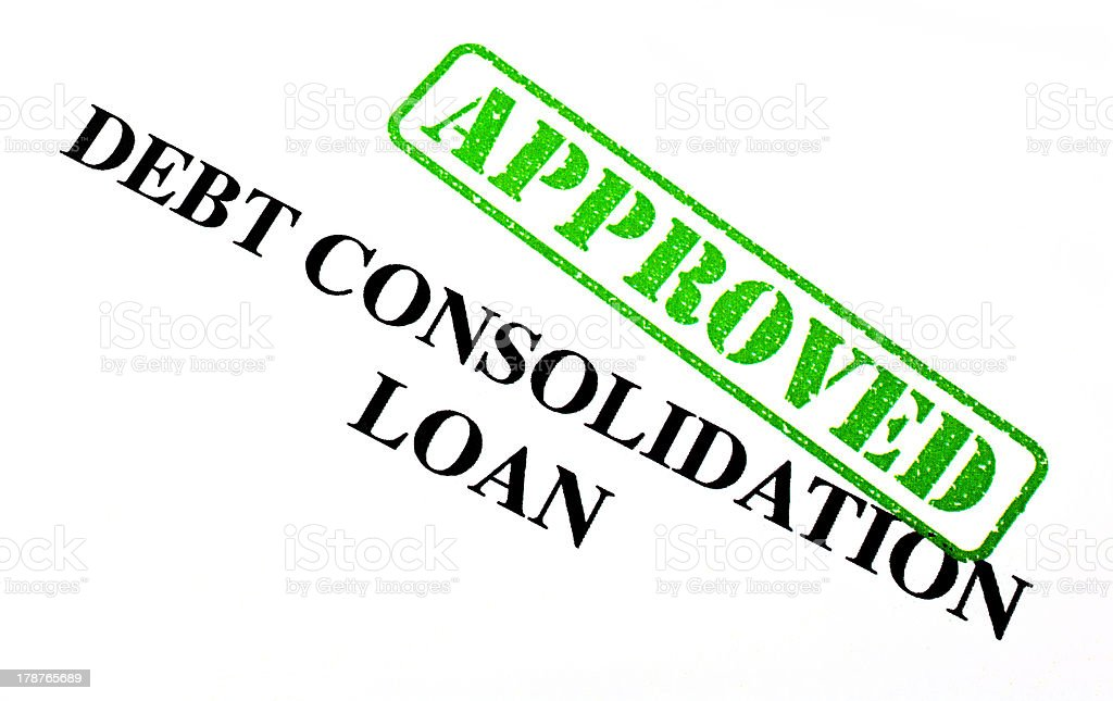 Approved Debt Consolidation Loan royalty-free stock photo