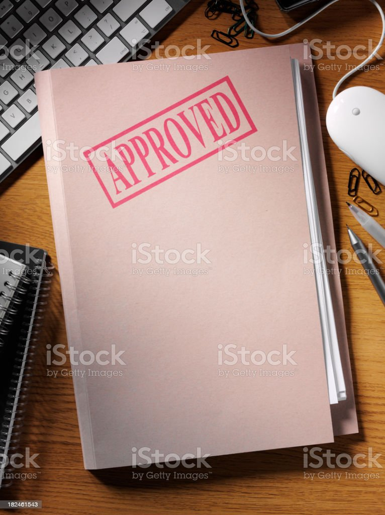 Approved Documents Folder royalty-free stock photo