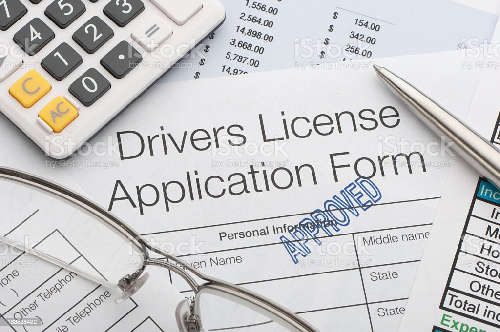 Approved driving application royalty-free stock photo