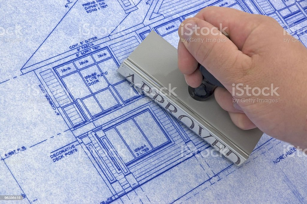 Approved for Construction stock photo