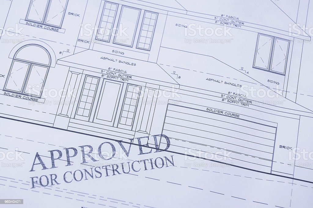 Approved for Construction II stock photo