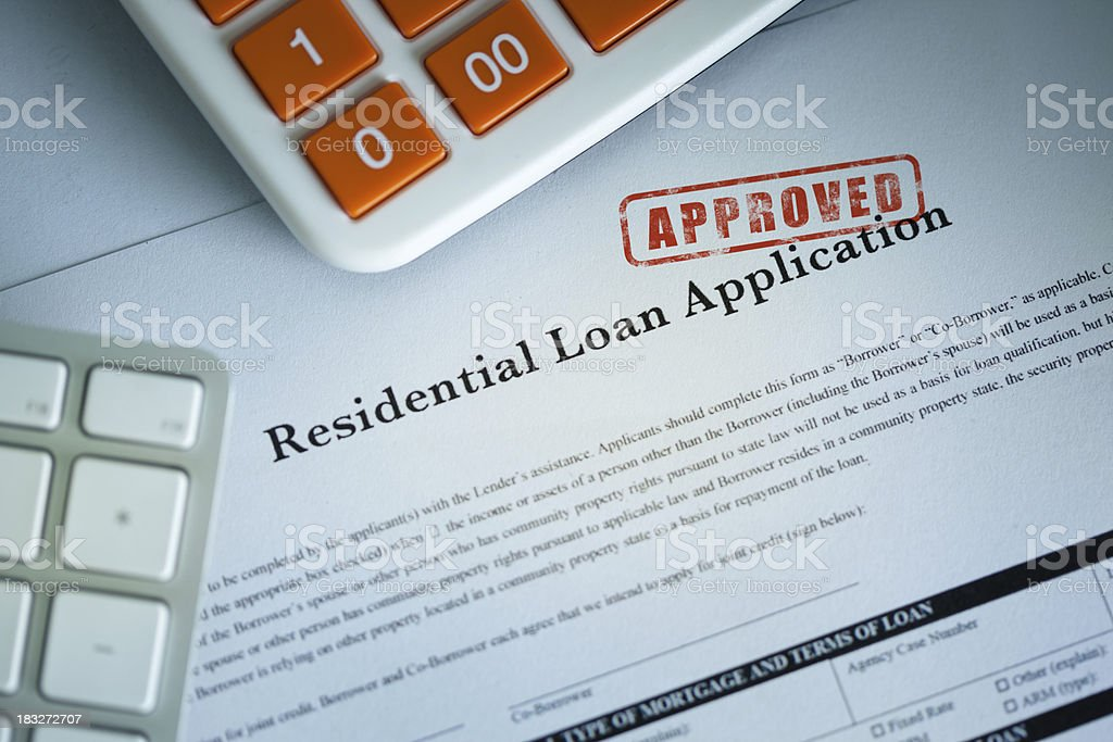 Approved Loan Application royalty-free stock photo