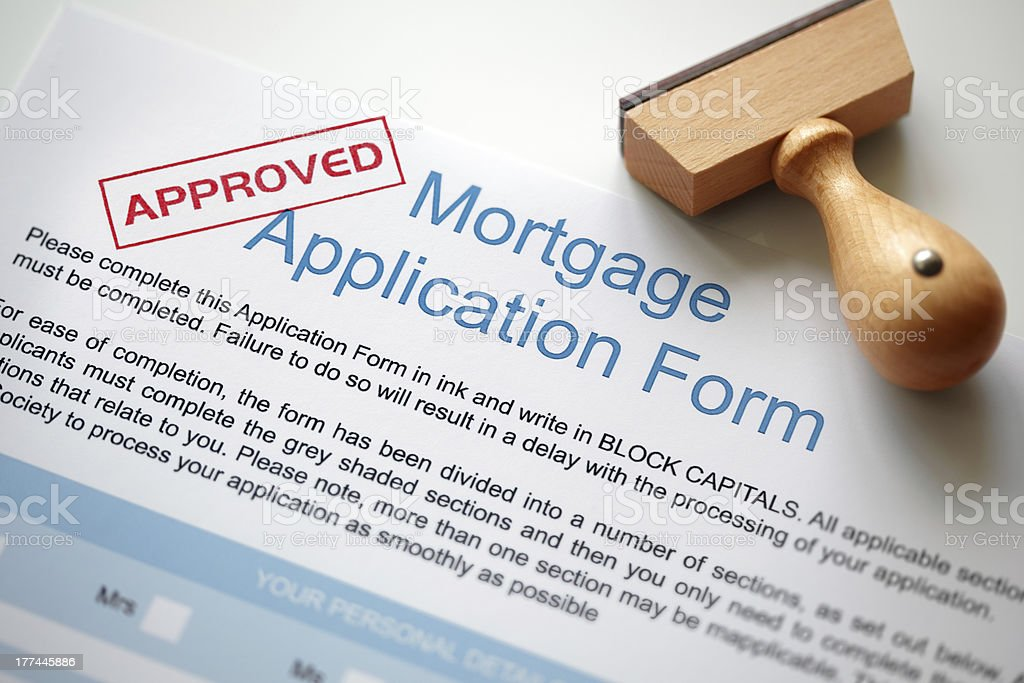 Approved mortgage application royalty-free stock photo