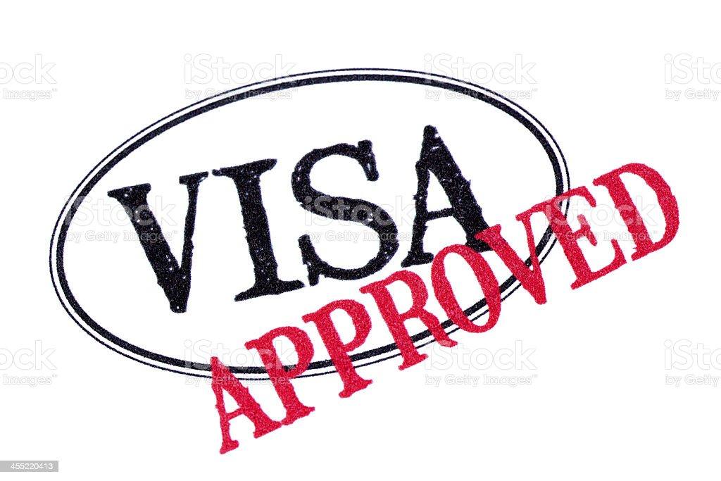 Approved passport visa stamp stock photo