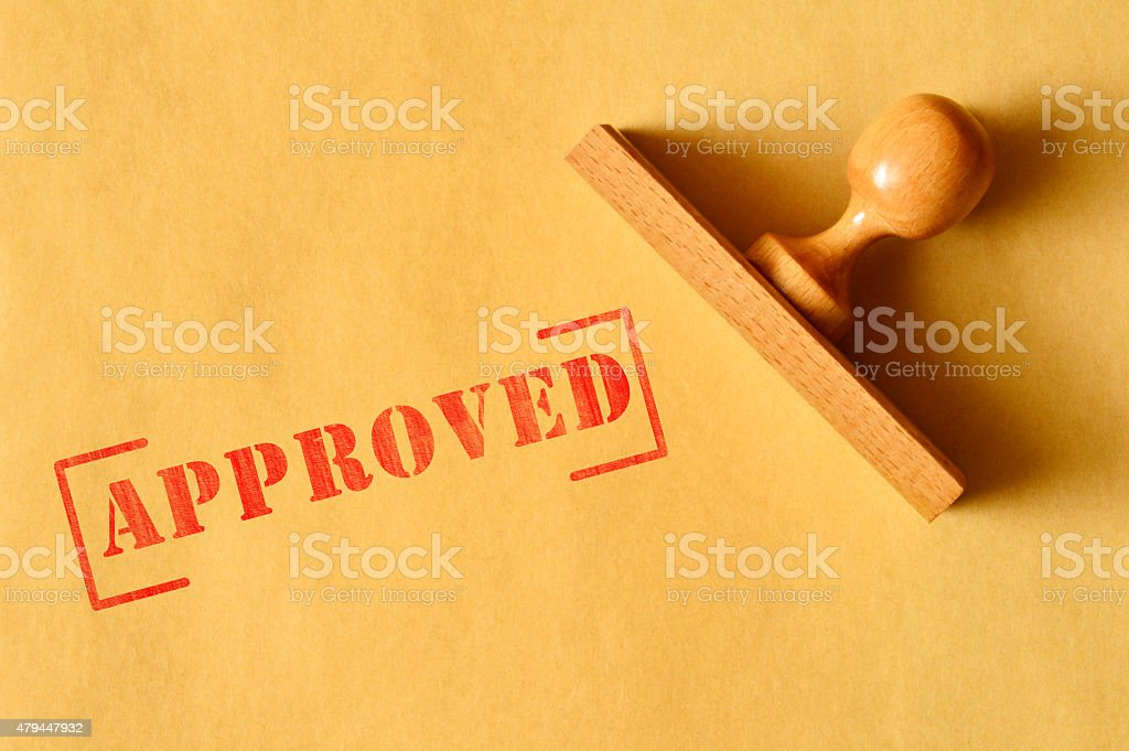 Approved (Click for more) stock photo