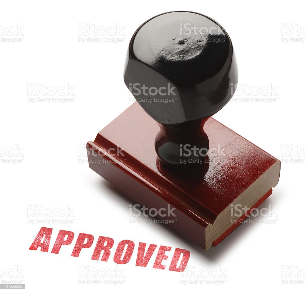 Approved royalty-free stock photo