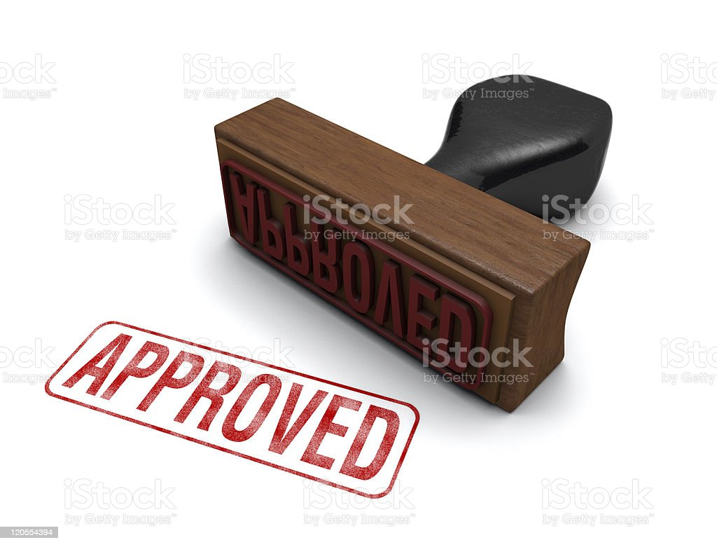 'Approved' Rubber Stamp stock photo
