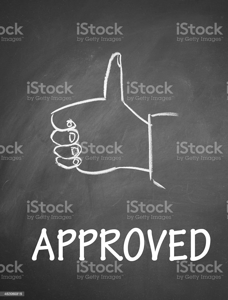 approved sign royalty-free stock photo