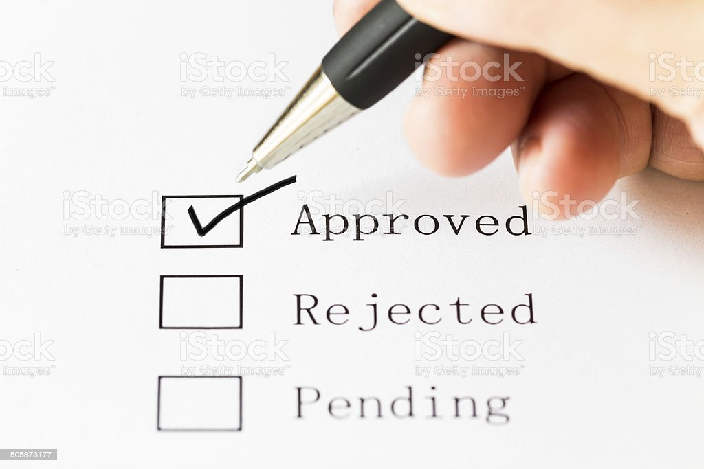 Approved sign stock photo