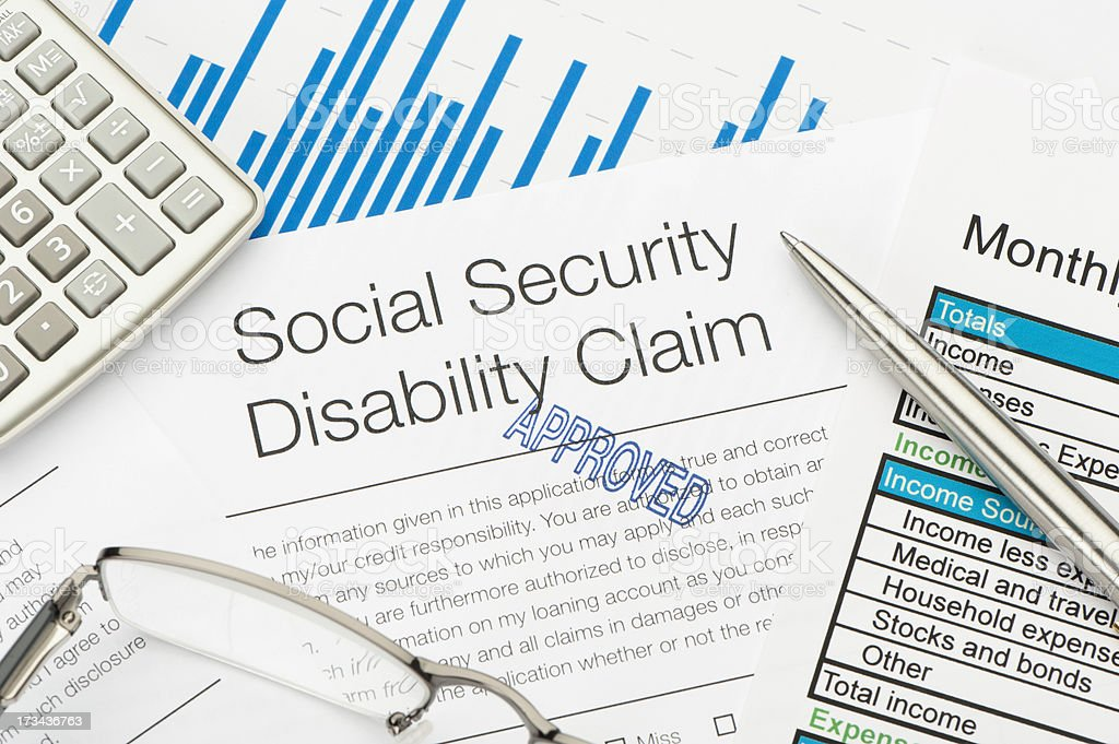 Approved Social Security Disability Claim Form royalty-free stock photo