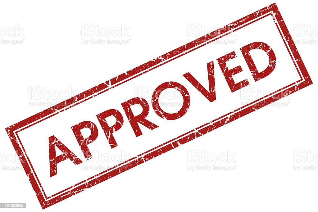 approved square stamp stock photo